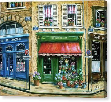 Le Fleuriste Canvas Print by Marilyn Dunlap