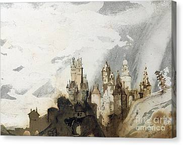 Le Gai Chateau Canvas Print by Victor Hugo