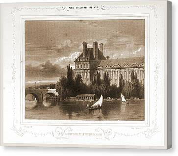 Le Pont Royal Et Le Pavillon De Flore, Paris Canvas Print by Litz Collection