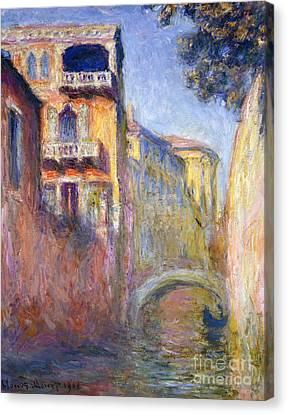 Le Rio De La Salute Canvas Print by Claude Monet