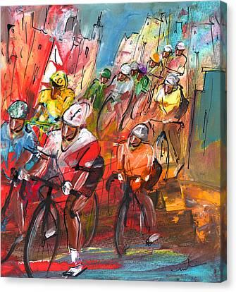 Le Tour De France Madness 04 Canvas Print by Miki De Goodaboom