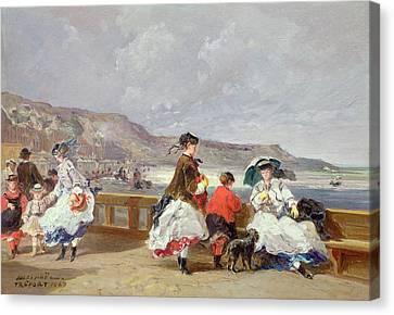 Le Treport, 1867 Oil On Canvas Canvas Print by Jules Achille Noel