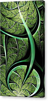 Leaf Texture Canvas Print by Anastasiya Malakhova