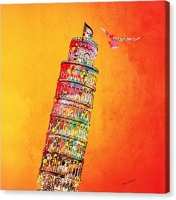 Leaning Tower Canvas Print by Mark Ashkenazi