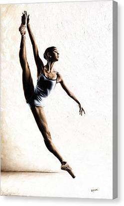 Leap Of Faith Canvas Print by Richard Young