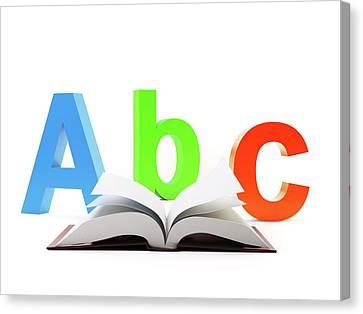 Learning The Alphabet Canvas Print by Andrzej Wojcicki