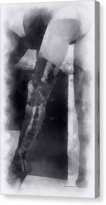 Leather Boots Erotica Bw Canvas Print by Thomas Woolworth