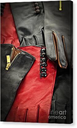 Leather Gloves Canvas Print by Elena Elisseeva