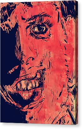Leatherface Canvas Print by Giuseppe Cristiano