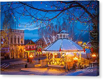 Leavenworth Gazebo Canvas Print by Inge Johnsson