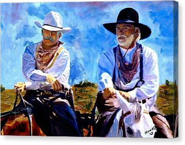 Leaving Lonesome Dove Canvas Print by Peter Nowell