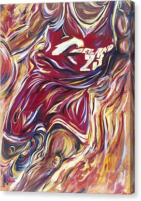 Lebron Guess Who Series Canvas Print by Redlime Art