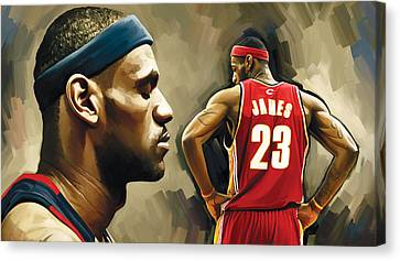 Lebron James Artwork 1 Canvas Print by Sheraz A