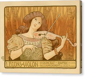 Lecons De Violon Canvas Print by Gianfranco Weiss
