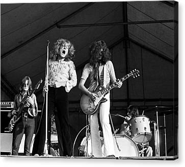 Led Zeppelin Bath Festival 1969 Canvas Print by Chris Walter