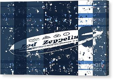 Led Zeppelin Blues Canvas Print by RJ Aguilar