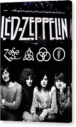 Led Zeppelin Canvas Print by FHT Designs