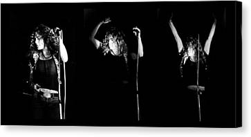 Led Zeppelin Robert Plant Triptych Canvas Print by Chris Walter