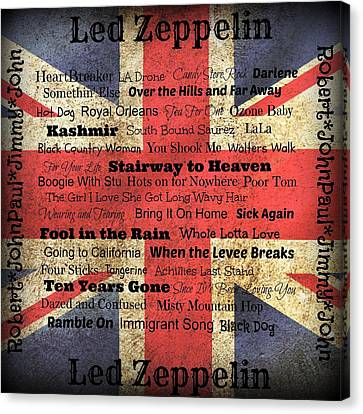 Led Zeppelin Canvas Print by Treesha Duncan