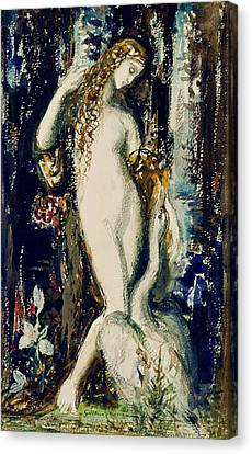 Leda  Canvas Print by Gustave Moreau