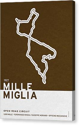 Legendary Races - 1927 Mille Miglia Canvas Print by Chungkong Art