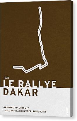 Legendary Races - 1978 Le Rallye Dakar Canvas Print by Chungkong Art