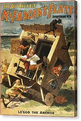 Leggo The Anchor Canvas Print by Aged Pixel