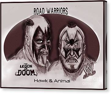 Legion Of Doom- The Road Warriors Canvas Print by Chris  DelVecchio