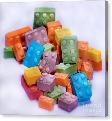 Lego Candy Blocks Canvas Print by Iris Richardson