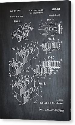 Lego Patent 1961 Canvas Print by Digital Reproductions