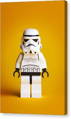 Lego Storm Trooper Canvas Print by Samuel Whitton