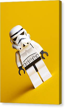 Lego Stormtrooper Canvas Print by Samuel Whitton