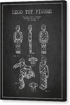 Lego Toy Figure Patent - Dark Canvas Print by Aged Pixel