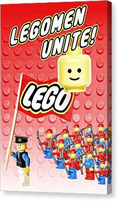Legomen Unite Canvas Print by Mark Fuller