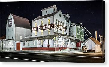 Lehi Roller Mills Canvas Print by TiiLT Imagewerks
