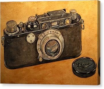 Leica II Camera Canvas Print by Juan  Bosco