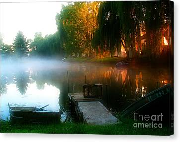 Leidy Lake Campground Canvas Print by Douglas Stucky