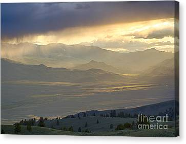 Lemhi Valley Light Canvas Print by Idaho Scenic Images Linda Lantzy