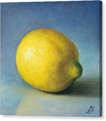 Lemon Canvas Print by Anna Abramska