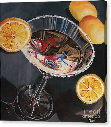 Lemon Drop Canvas Print by Debbie DeWitt