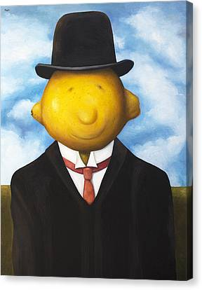 Lemon Head Canvas Print by Leah Saulnier The Painting Maniac