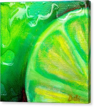 Lemon Lime Canvas Print by Debi Starr