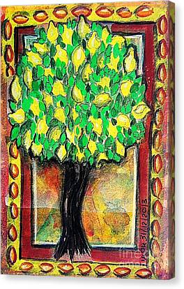 Lemon Tree Canvas Print by Mimulux patricia no