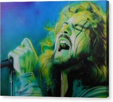 Eddie Vedder - ' Lemon Yellow Sun ' Canvas Print by Christian Chapman Art