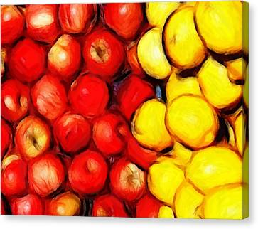 Lemons And Apples Canvas Print by Stefan Kuhn