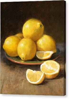 Lemons Canvas Print by Robert Papp