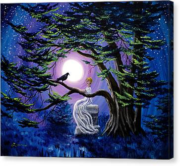 Lenore By A Cypress Tree Canvas Print by Laura Iverson