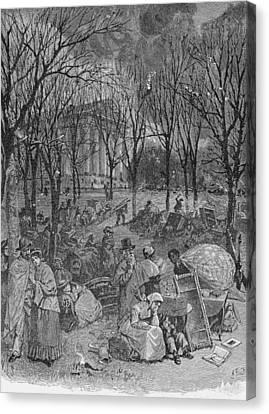 Lenox, Massachusetts, From Historical Collections Of Massachusetts, John Warner Barber, Engraved Canvas Print by John Warner Barber