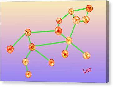 Leo Constellation Composed By Tomato Slices Food Art Canvas Print by Paul Ge