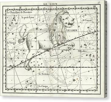 Leo Constellation Canvas Print by Us Navy